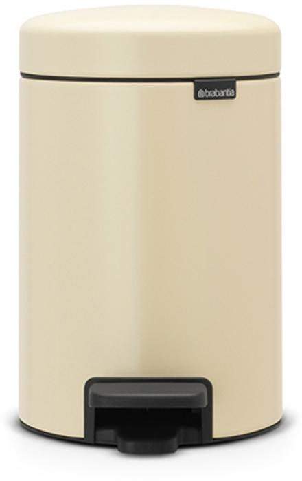 Бак мусорный Brabantia NewIcon, с педалью, цвет: миндальный, 3 л. 113000113000Бесшумный – плавное закрывание крышки и необыкновенно мягкий ход педали. Не пропускает запах – плотно прилегающая крышка. Устойчивый – специальное устройство, предотвращающее опрокидывание бака. Не повреждает пол – нескользящее основание. Удобная очистка – съемное внутреннее пластиковое ведро. Всегда опрятный вид – в комплекте идеально подходящие по размеру мешки для мусора PerfectFit (размер A). Изготовлен на 40% из переработанных материалов, подлежит вторичной переработке вместе с упаковкой на 98%. Сертификат соответствия концепции регенерации «Cradle to Cradle».