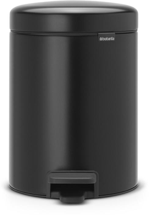 Бак мусорный Brabantia NewIcon, с педалью, цвет: черный, 5 л. 112928112928Этот 5-литровый бак с педалью идеально подходит для ванной, туалета или детской комнаты.Не пропускает запах - плотно прилегающая крышка. Устойчивый - специальное устройство, предотвращающее опрокидывание бака. Не повреждает пол - нескользящее основание. Удобная очистка - съемное внутреннее пластиковое ведро. Всегда опрятный вид - в комплекте идеально подходящие по размеру мешки для мусора PerfectFit (размер В). Изготовлен на 40% из переработанных материалов, подлежит вторичной переработке вместе с упаковкой на 98%. Сертификат соответствия концепции регенерации Cradle to Cradle.