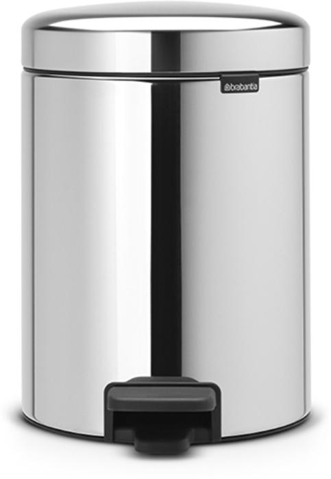 Бак мусорный с педалью Brabantia NewIcon, цвет: стальной полированый, 5 л. 11262113605Не повреждает пол – нескользящее основание.Удобная очистка – съемное внутреннее пластиковое ведро.Всегда опрятный вид – в комплекте идеально подходящие по размеру мешки для мусора PerfectFit (размер В).Изготовлен на 40% из переработанных материалов, подлежит вторичной переработке вместе с упаковкой на 98%.Сертификат соответствия концепции регенерации «Cradle to Cradle».