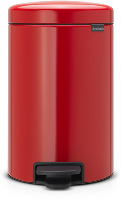 Бак мусорный Brabantia NewIcon, с педалью, цвет: красный, 12 л. 112003112003Этот 12-литровый бак с педалью достаточно вместителен и при этом достаточно компактен для размещения под рабочим столом – отличное решение для кухни или гостиной. Бесшумный - плавное закрывание крышки и необыкновенно мягкий ход педали.Не пропускает запах - плотно прилегающая крышка.Устойчивый - специальное устройство, предотвращающее опрокидывание бака.Не повреждает пол - нескользящее основание.Удобная очистка - съемное внутреннее пластиковое ведро.Бак удобно перемещать - специальная ручка в блоке крепления крышки.Всегда опрятный вид - в комплекте идеально подходящие по размеру мешки для мусора PerfectFit (размер C).Изготовлен на 40% из переработанных материалов, подлежит вторичной переработке вместе с упаковкой на 98%.Сертификат соответствия концепции регенерации Cradle to Cradle.