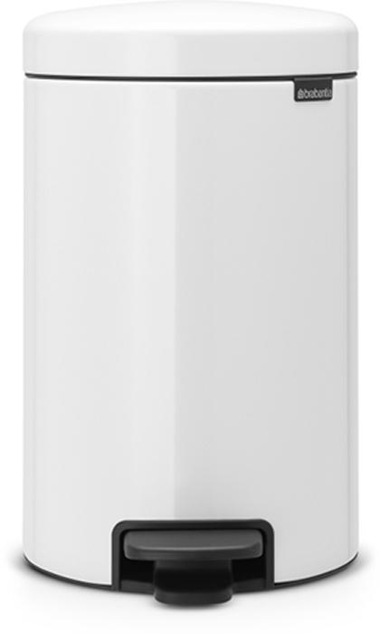 Бак мусорный Brabantia NewIcon, с педалью, цвет: белый, 12 л. 111969М 2428_аквамаринЭтот 12-литровый бак с педалью достаточно вместителен и при этом достаточно компактен для размещения под рабочим столом – отличное решение для кухни или гостиной. Бесшумный - плавное закрывание крышки и необыкновенно мягкий ход педали.Не пропускает запах - плотно прилегающая крышка.Устойчивый - специальное устройство, предотвращающее опрокидывание бака.Не повреждает пол - нескользящее основание.Удобная очистка - съемное внутреннее пластиковое ведро.Бак удобно перемещать - специальная ручка в блоке крепления крышки.Всегда опрятный вид - в комплекте идеально подходящие по размеру мешки для мусора PerfectFit (размер C).Изготовлен на 40% из переработанных материалов, подлежит вторичной переработке вместе с упаковкой на 98%.Сертификат соответствия концепции регенерации Cradle to Cradle.