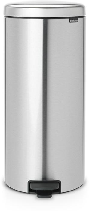 Бак мусорный Brabantia NewIcon, с педалью, цвет: стальной матовый FPP (FPP), 30 л. 111822111822Этот высокий вместительный бак на 30 литров с педалью - превосходное решение для большой семьи.Бесшумный - плавное закрывание крышки и необыкновенно мягкий ход педали. Не пропускает запах - плотно прилегающая крышка. Устойчивый - специальное устройство, предотвращающее опрокидывание бака. Не повреждает пол - нескользящее основание. Удобная очистка - съемное внутреннее пластиковое ведро. Бак удобно перемещать - специальная ручка в блоке крепления крышки. Покрытие с защитой от отпечатков пальцев (FPP). Всегда опрятный вид - в комплекте идеально подходящие по размеру мешки для мусора PerfectFit (размер G). Изготовлен на 40% из переработанных материалов, подлежит вторичной переработке вместе с упаковкой на 98%. Сертификат соответствия концепции регенерации Cradle to Cradle.