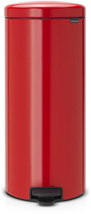 Бак мусорный Brabantia NewIcon, с педалью, цвет: пламенно-красный, 30 л. 111808111808Этот высокий вместительный бак на 30 литров с педалью - превосходное решение для большой семьи. Бесшумный - плавное закрывание крышки и необыкновенно мягкий ход педали. Не пропускает запах - плотно прилегающая крышка. Устойчивый - специальное устройство, предотвращающее опрокидывание бака. Не повреждает пол - нескользящее основание. Удобная очистка - съемное внутреннее пластиковое ведро. Бак удобно перемещать - специальная ручка в блоке крепления крышки. Всегда опрятный вид - в комплекте идеально подходящие по размеру мешки для мусора PerfectFit (размер G). Изготовлен на 40% из переработанных материалов, подлежит вторичной переработке вместе с упаковкой на 98%. Сертификат соответствия концепции регенерации Cradle to Cradle.