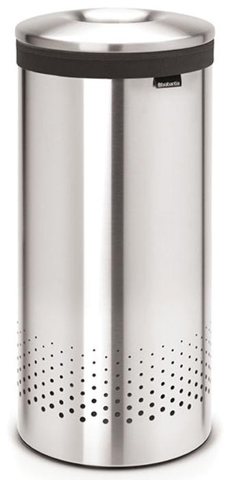 Бак для белья Brabantia, цвет: стальной матовый, 35 л. 105128105128Стильный дизайн и аккуратное хранение – через крышку не видно содержимое. Удобно закладывать и доставать белье – крышка крепится на верхний обод бака.Небольшие вещи можно закладывать, не открывая крышку – загрузочное отверстие Quick-Drop.Удобная переноска белья – съемный легко стираемый хлопковый мешок для белья.Мешок для белья удобно крепится на липучке, вкладывается и достается из бака. Вентиляционные отверстия позволяют белью «дышать».Нижний пластиковый защитный обод предохраняет пол от повреждений.Бак изготовлен из коррозионностойких материалов и идеально подходит для использования в ванной комнате.