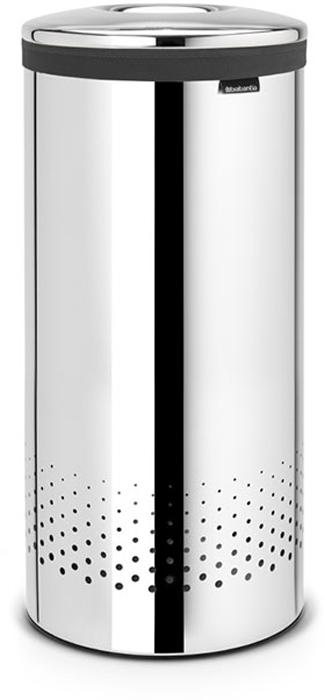 Бак для белья Brabantia, 35 л. 10510410510435-литровый бак для белья Brabantia выполнен из стойких к коррозии материалов и идеально подходит для влажных помещений. Благодаря классическому дизайну бак легко впишется в интерьер Вашей ванной комнаты!Изготовлен из коррозионностойких материалов (нержавеющая сталь и пластик).Металлическая крышка с отверстием, которое позволяет положить мелкие предметы в бак, не открывая крышку.Пластиковое защитное кольцо предотвращает повреждение пола. Вентиляционные отверстия на корпусе позволяют содержимому бака дышать, что позволяет избежать появления неприятного запаха. Съемный мешок для белья легко менять. Благодаря прорезиненным краям мешок не соскальзывает в корзину. В комплект входит съемный моющийся мешок для белья. •Гарантия 10 лет.