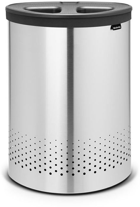 Бак для белья Brabantia, цвет: стальной матовый, 55 л. 105029105029Стильный дизайн и аккуратное хранение – через крышку не видно содержимое.Удобно закладывать и доставать белье – крышка крепится на верхний обод бака.Небольшие вещи можно закладывать, не открывая крышку – загрузочное отверстие Quick-Drop.Удобная переноска белья – съемный легко стираемый хлопковый мешок для белья.Мешок для белья удобно крепится на липучке, вкладывается и достается из бака.Вентиляционные отверстия позволяют белью «дышать». Нижний пластиковый защитный обод предохраняет пол от повреждений.Бак изготовлен из коррозионностойких материалов и идеально подходит для использования в ванной комнате.