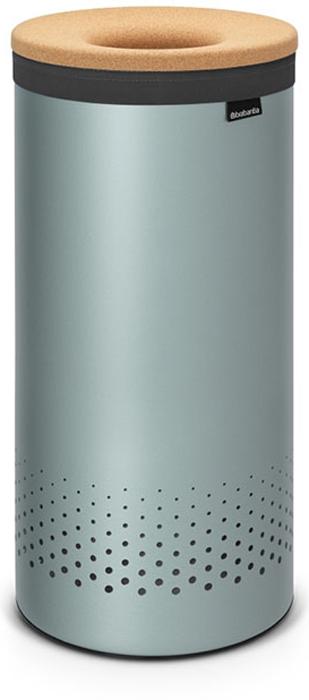 Бак для белья Brabantia, цвет: мятный, 35 л. 104381104381Стильный дизайн и аккуратное хранение – через крышку не видно содержимое. Удобно закладывать и доставать белье – крышка крепится на верхний обод бака. Небольшие вещи можно закладывать, не открывая крышку – загрузочное отверстие Quick-Drop. Удобная переноска белья – съемный легко стираемый хлопковый мешок для белья.Мешок для белья удобно крепится на липучке, вкладывается и достается из бака.Вентиляционные отверстия позволяют белью «дышать».br> Нижний пластиковый защитный обод предохраняет пол от повреждений. Бак изготовлен из коррозионностойких материалов и идеально подходит для использования в ванной комнате.