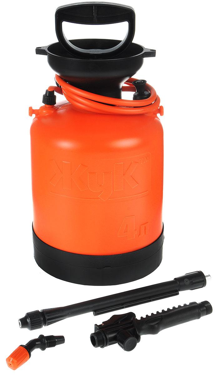 Опрыскиватель ЖУК ОП-209, 4 л16824Опрыскиватель ЖУК ОП-209 применяется для химической защиты растений от вредителей и болезней, а также для уничтожения сорняков. Возможно использование опрыскивателя для обработки поверхностей с использованием моющих средств, чистки стен, стекло и других работ. Цельная горловина создает дополнительную герметичность бака, что гарантирует безопасность эксплуатации и предотвращает возможность вытекания жидкости во время работы. Широкий плечевой ремень, входящий в комплектацию, снимает напряжение с мышц спины во время эксплуатации. Поддон, предусмотренный конструкцией бака, обеспечивает дополнительную устойчивость и удобство использования. Данная модель идеальна для ухода за растениями на небольших садовых участках.Объем бака: 4 л.Объем заливаемой жидкости: 3 л.Длина брандспойта: 60-92 см.Рабочее давление: 0,23 Мпа.Расход рабочей жидкости: 0,6-0,8 л/мин.Диапазон регулировки факела распыла: от 0° до 90°.Давление срабатывания предохранительного клапана: не более 0,3 Мпа.