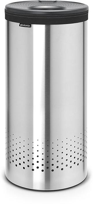 Бак для белья Brabantia, цвет: стальной матовый, 35 л. 103469103469Стильный дизайн и аккуратное хранение – через крышку не видно содержимое.Удобно закладывать и доставать белье – крышка крепится на верхний обод бака. Небольшие вещи можно закладывать, не открывая крышку – загрузочное отверстие Quick-Drop.Удобная переноска белья – съемный легко стираемый хлопковый мешок для белья.Мешок для белья удобно крепится на липучке, вкладывается и достается из бака.Вентиляционные отверстия позволяют белью «дышать».Нижний пластиковый защитный обод предохраняет пол от повреждений.Бак изготовлен из коррозионностойких материалов и идеально подходит для использования в ванной комнате.