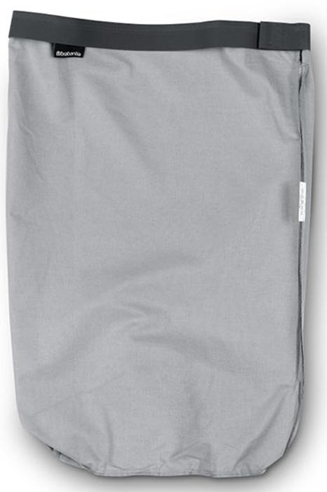 Мешок для бака для белья Brabantia, цвет: серый, 35 л. 102325102325Сменный мешок подойдет для бака для белья Brabantia объемом 30-35 л. Изготовлен из прочной ткани (100% хлопок) и легко стирается. Легко устанавливается и не соскальзывает в бак – эластичные прорезиненные края и липучка.