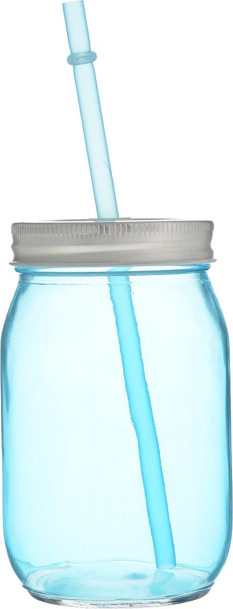 Емкость для напитков Zeller, с трубочкой, 450 мл19737Емкость для напитков Zeller выполнена из высококачественного стекла. Изделие снабжено металлической крышкой с отверстием для трубочки. Эта емкость станет идеальным вариантом для подачи лимонадов, ароматных свежевыжатых соков и вкусных смузи. Диаметр (по верхнему краю): 6,5 см.Высота емкости (без учета трубочки): 13 см.