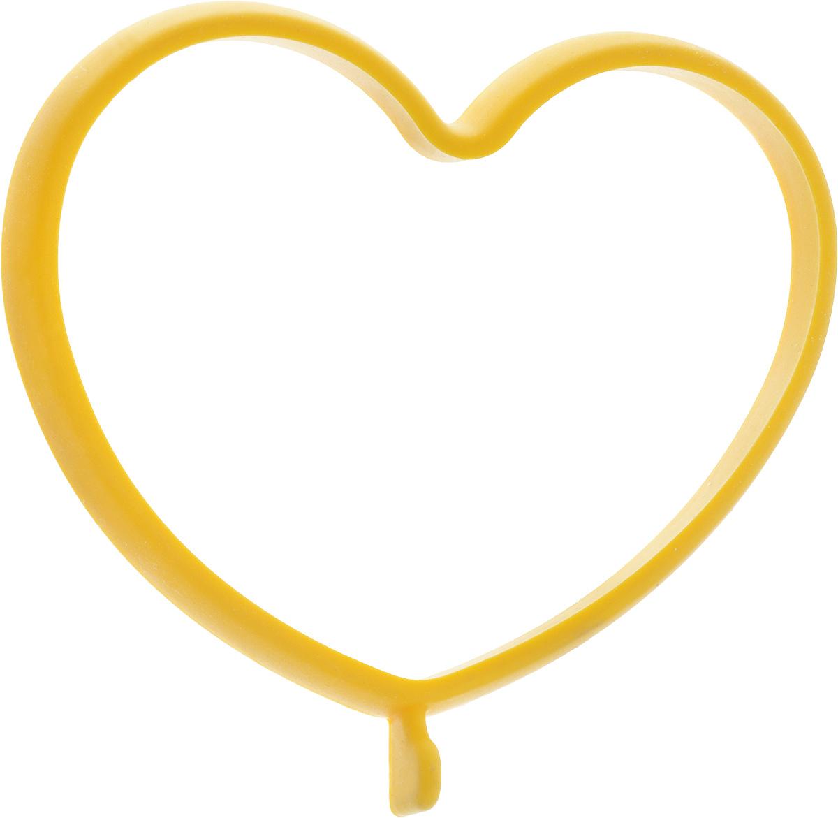 """Форма для яичницы Oursson """"Сердце"""", выполненная из жаростойкого силикона, подходит для приготовления яичницы, омлета, оладий! Она  добавит оригинальности обычным блюдам и особенно понравится детям! Форма не повреждает антипригарное покрытие сковород. Для  получения идеального результата рекомендуется использовать ее на ровной поверхности сковороды.   Размер формы: 13,5 х 11,4 х 1 см"""