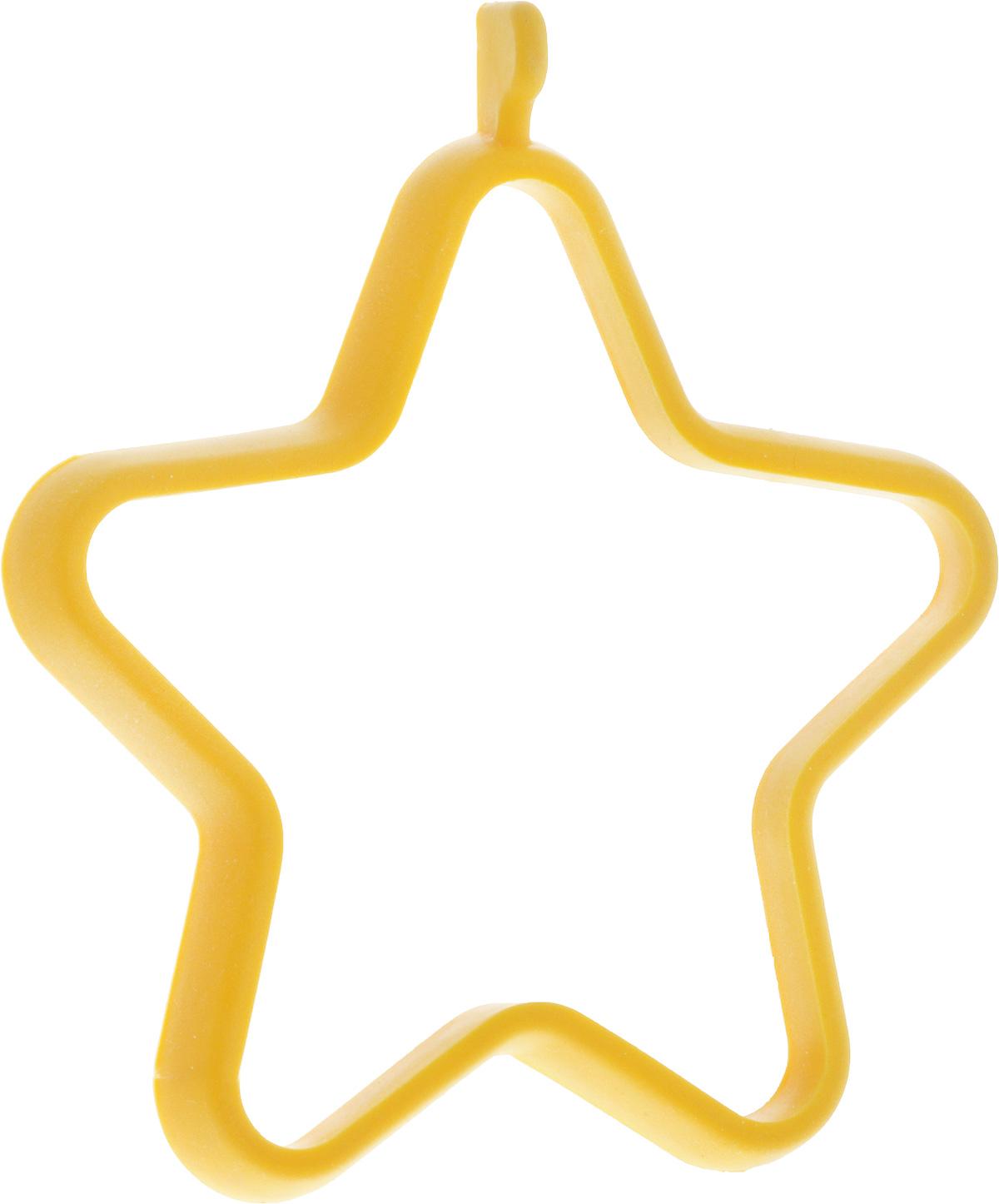 Форма для яичницы Oursson Звезда, цвет: желтый, 13,5 х 11,4 х 1 смBW1356S/MC_желтый_звездаФорма для яичницы Oursson Звезда, выполненная из жаростойкого силикона, подходит для приготовления яичницы, омлета, оладий! Она добавит оригинальности обычным блюдам и особенно понравится детям! Форма не повреждает антипригарное покрытие сковород. Для получения идеального результата рекомендуется использовать ее на ровной поверхности сковороды. Размер формы: 13,5 х 11,4 х 1 см