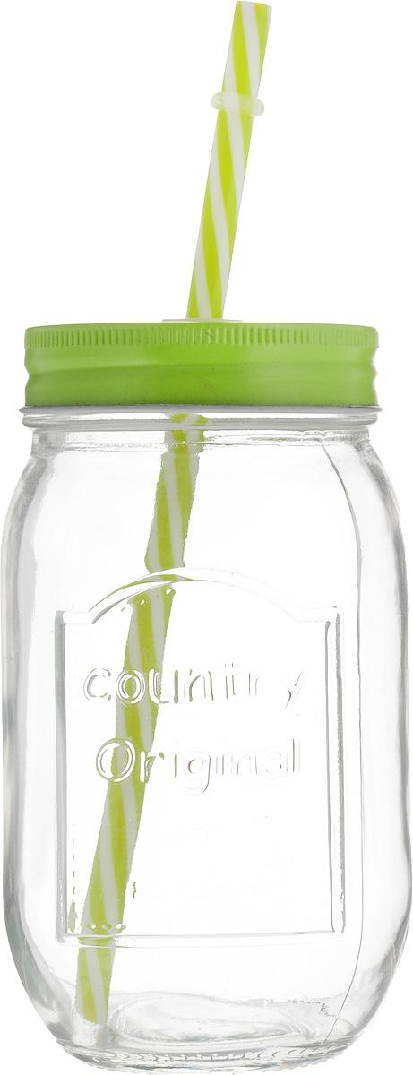 Емкость для напитков Zeller, с трубочкой, цвет: салатовый, 480 мл19736_салатовыйЕмкость для напитков Zeller выполнена из высококачественного стекла. Изделие снабжено металлической крышкой с отверстием для трубочки. Эта емкость станет идеальным вариантом для подачи лимонадов, ароматных свежевыжатых соков и вкусных смузи. Диаметр (по верхнему краю): 6,5 см.Высота емкости (без учета трубочки): 14,5 см.Уважаемые клиенты! Обращаем ваше внимание на возможные изменения в цвете крышки и трубочки. Поставка осуществляется в зависимости от прихода товара на склад.