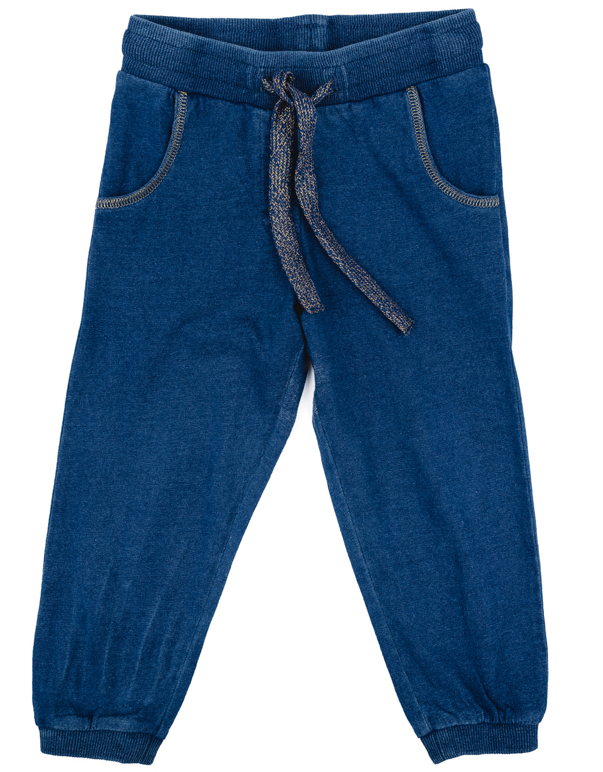 Брюки спортивные для девочки PlayToday, цвет: синий. 278013. Размер 80