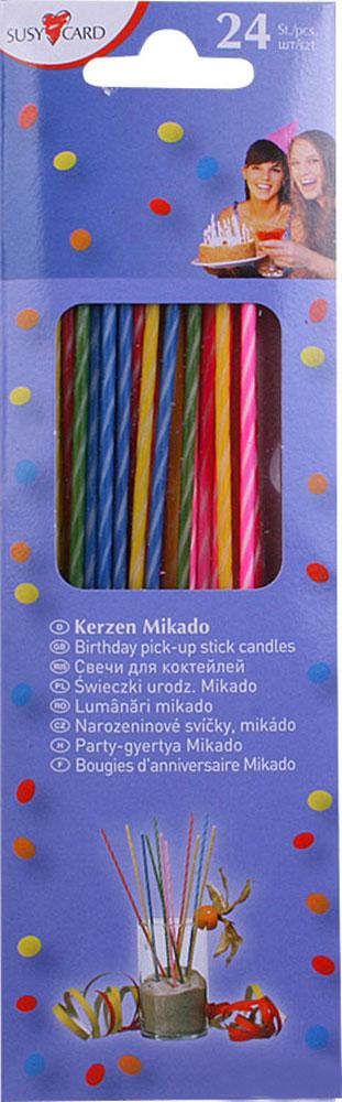 Susy Card Свечи для торта детские коктейльные 24 шт susy card свечи для торта детские twister 6 шт
