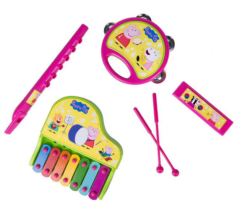 Peppa Pig Набор музыкальных инструментов Свинка Пеппа 6 предметов peppa pig игровой набор пеппа на каникулах 30627