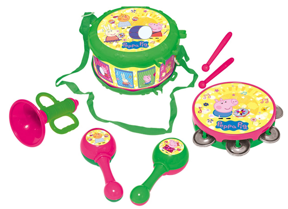 Peppa Pig Набор музыкальных инструментов Свинка Пеппа 7 предметов - Музыкальные инструменты