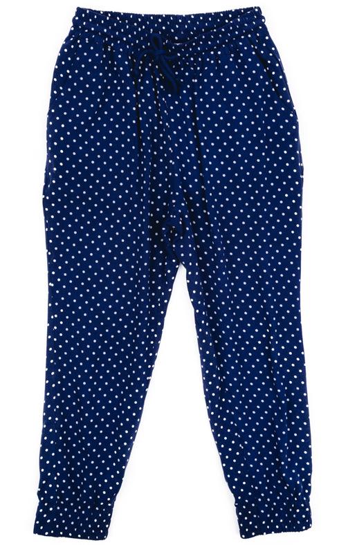 Брюки для девочки PlayToday, цвет: темно-синий, белый, голубой. 272003. Размер 110272003Брюки для девочки PlayToday выполнены из 100% вискозы. Модель дополнена затягивающимся шнурком и карманами.