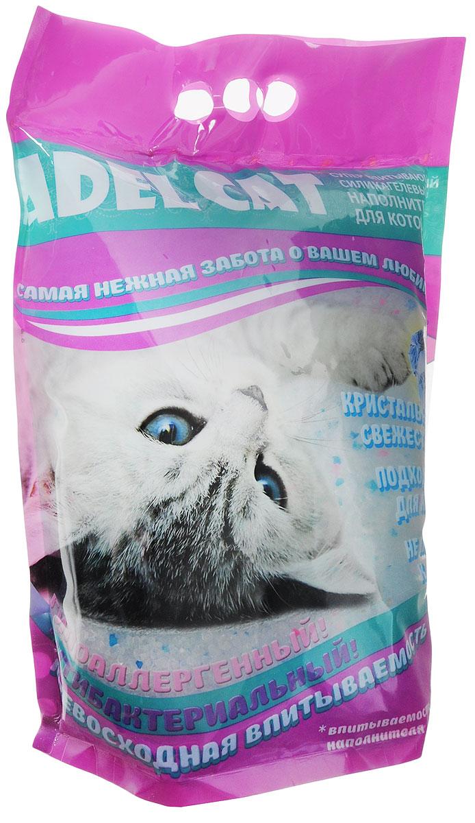 Наполнитель для кошачьих туалетов  Adel-Cat , силикагель, с голубыми гранулами, 8 л - Наполнители и туалетные принадлежности