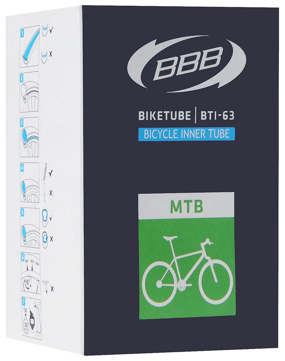 Камера велосипедная BBB, 26, 1,9-2,30 FVBTI-63Камера BBB изготовлена из долговечного резинового компаунда. Никаких швов, которые могут пропускать воздух. Достаточно большая для защиты от проколов и достаточно небольшая для снижения веса. Велосипедные камеры - обязательный атрибут каждого велосипедиста! Никогда не выезжайте из дома на велосипеде, не взяв с собой запасную велосипедную шину!Диаметр колеса: 26.Допустимый размер сечения покрышки: 1,9-2,3.>Велониппель (Presta): 33 мм.Толщина стенки: 0,87 мм. Категория: универсальная.