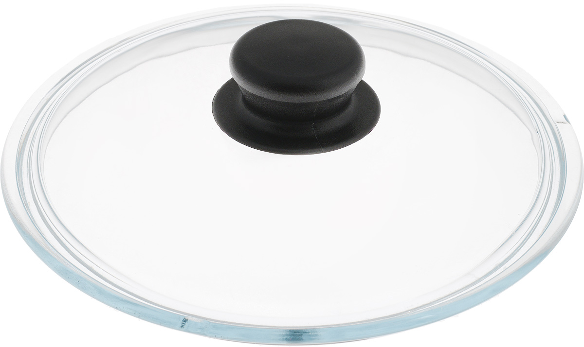 Крышка NaturePan, цвет: черный, прозрачный. Диаметр 20 смЛ2482Крышка NaturePan изготовлена из термостойкого и экологически чистого стекла с пластиковой ручкой. Изделие удобно в использовании и позволяет контролировать процесс приготовления пищи.Можно мыть в посудомоечной машине. Диаметр крышки: 20 см.Диаметр ручки: 4,5 см.Высота ручки: 2,5 см.