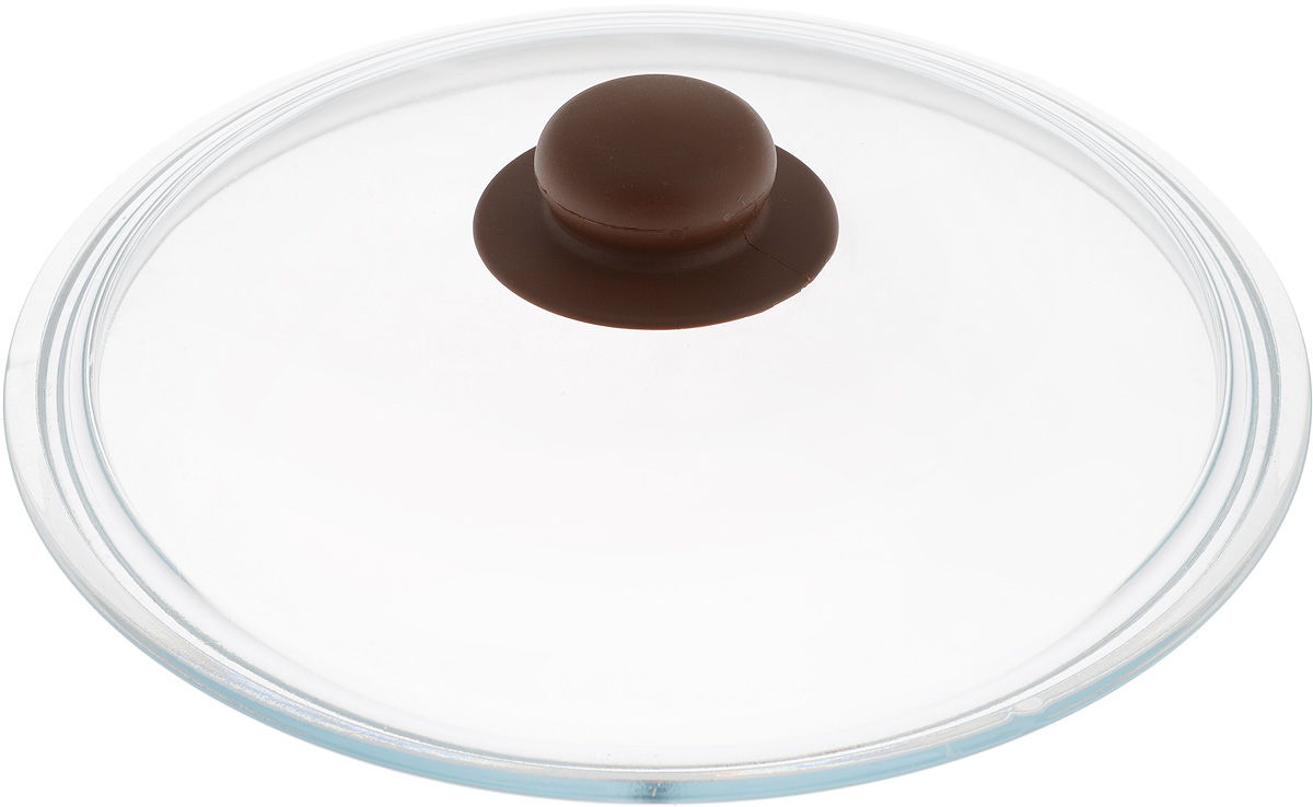 Крышка NaturePan, цвет: коричневый, прозрачный. Диаметр 24 смЛ4880Крышка NaturePan изготовлена из термостойкого и экологически чистого стекла с пластиковой ручкой. Изделие удобно в использовании и позволяет контролировать процесс приготовления пищи.Можно мыть в посудомоечной машине. Диаметр крышки: 24 см.Диаметр ручки: 4,5 см.Высота ручки: 2,5 см.