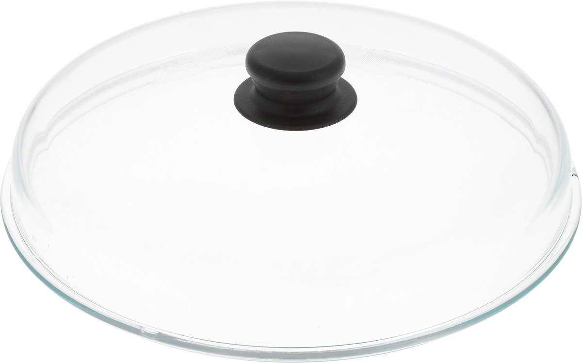 Крышка  NaturePan , высокая, цвет: прозрачный, черный. Диаметр 28 см. Л3076 - Посуда для приготовления
