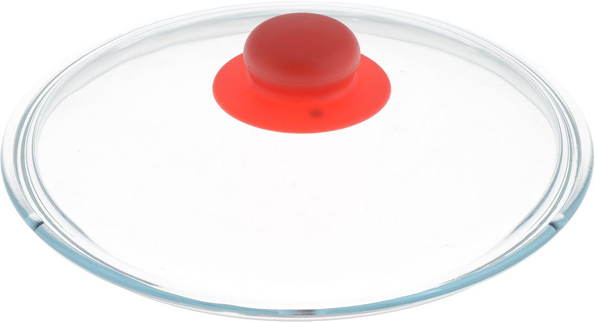 Крышка NaturePan, цвет: красный, прозрачный. Диаметр 22 смЛ4871Крышка NaturePan изготовлена из термостойкого и экологически чистого стекла с пластиковой ручкой. Изделие удобно в использовании и позволяет контролировать процесс приготовления пищи.Можно мыть в посудомоечной машине. Диаметр крышки: 22 см.Диаметр ручки: 4,5 см.Высота ручки: 2,5 см.