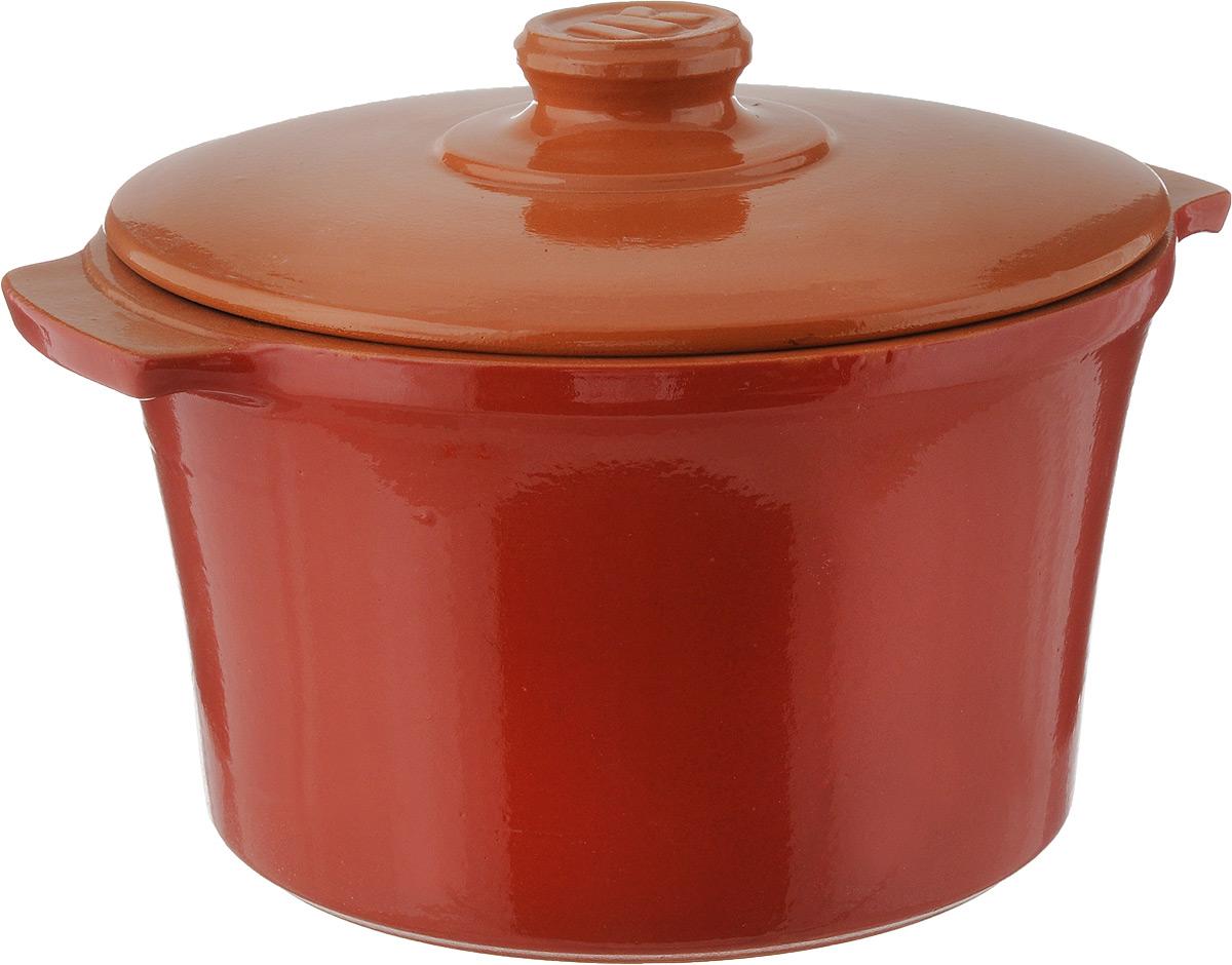 Кастрюля керамическая Ломоносовская керамика с крышкой, цвет: оранжевый, красный, 3 л1КТкр-3Кастрюля Ломоносовская керамика выполнена из высококачественной термостойкой керамики. Покрытие абсолютно безопасно для здоровья, не содержит вредных веществ. Кастрюля оснащена удобными боковыми ручками и керамической крышкой. Она плотно прилегает к краям посуды, сохраняя аромат блюд.Подходит кастрюля для использования на всех типах плит, кроме индукционных. Для использования на индукционных плитах требуется специальный диск.Можно использовать в духовке и СВЧ. Разрешено мыть в посудомоечной машине. Диаметр кастрюли (по верхнему краю): 21,5 см.Высота стенки: 13 см.Диаметр дна: 16,5 см. Ширина кастрюли (с учетом ручек): 25 см.
