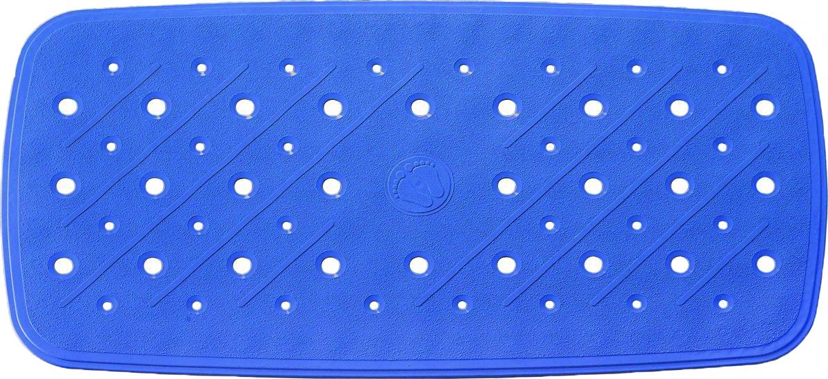 Коврик для ванной Ridder Promo, противоскользящий, на присосках, цвет: синий, 36 х 71 см