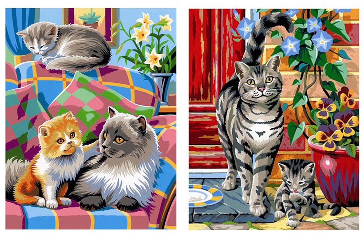 KSG Картина по номерам Кошки
