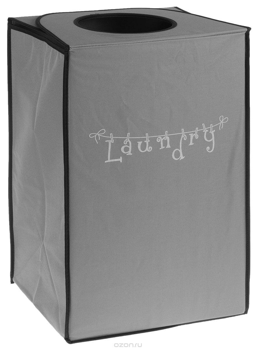 Корзина для белья Kesper, складная, 40 х 30 х 63 см1959-5Корзина для белья Kesper, выполненная из полиэстера, предназначена для хранения белья перед стиркой. Корзина очень легко собирается. Изделие оснащено отверстием. Корзина для белья Kesper - это функциональная и полезная вещь, которая не только сохранит ваше белье, но и стильно украсит интерьер помещения.
