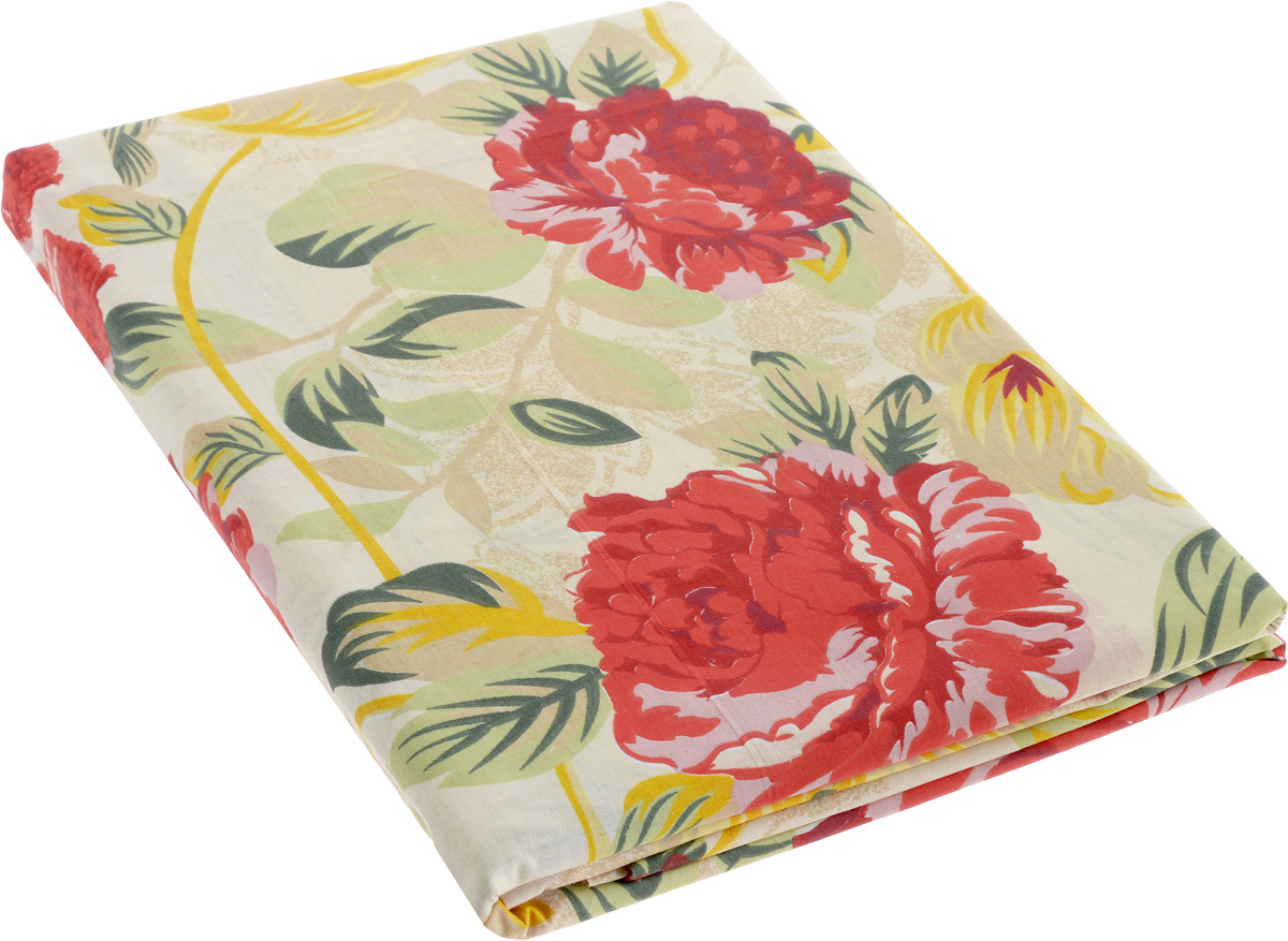 Комплект белья МарТекс Цветы, 1,5-спальный, наволочки 70х70, цвет: бежевый, красный01-0405-1Комплект постельного белья МарТекс Цветы состоит из пододеяльника, простыни и двух наволочек. Постельное белье оформлено оригинальным ярким рисунком и имеет изысканный внешний вид.Комплект изготовлен из натурального поплина на базе хлопка. Материал обладает всеми свойствами хлопка (не вызывает аллергию, хорошо пропускает воздух, легко стирается и гладится, прочен, выдерживает много стирок и т.д.) плюс он очень долговечен, износоустойчив, но при этом очень мягкий.Приобретая комплект постельного белья МарТекс, вы можете быть уверенны в том, что покупка доставит вам и вашим близким удовольствие и подарит максимальный комфорт.