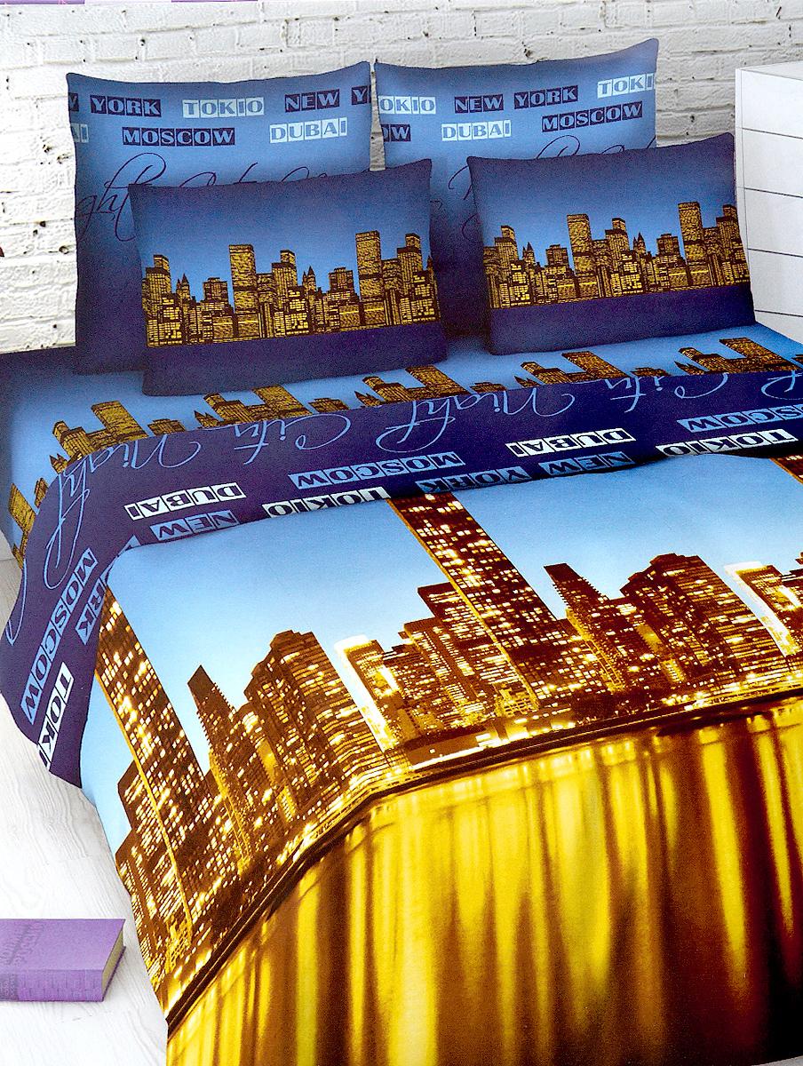 Комплект белья МарТекс, 2-спальный, наволочки 70х70, цвет: синий, коричневый01-1016-2Комплект постельного белья МарТекс состоит из пододеяльника, простыни и двух наволочек. Постельное белье оформлено оригинальным ярким рисунком и имеет изысканный внешний вид.Комплект изготовлен из качественной хлопчатобумажной бязи. Поверхность материи - ровная и матовая на вид, одинаковая с обеих сторон. Ткань экологична, гипоаллергенна, износостойка. Это отличный материал для постельного белья.