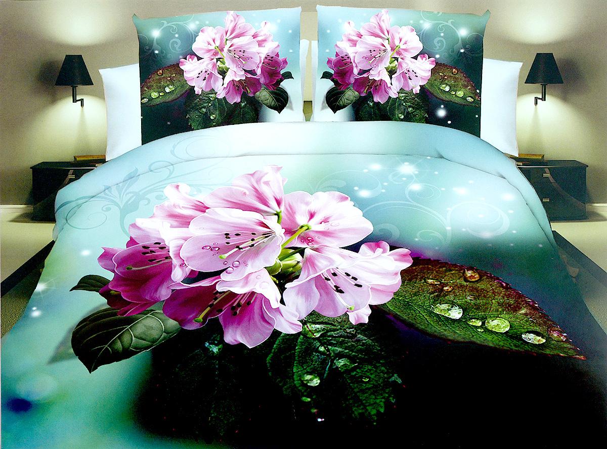 Комплект белья МарТекс Гортензия, 1,5-спальный, наволочки 70х70, цвет: зеленый, голубой, розовый01-1278-1Комплект постельного белья МарТекс Гортензия состоит из пододеяльника, простыни и двух наволочек. Постельное белье оформлено оригинальным ярким рисунком и имеет изысканный внешний вид. Комплект изготовлен из качественной микрофибры. Микроволокно обладает высокой устойчивостью, у него богатая палитра ярких оттенков, эта ткань полностью поддается стирке.Такая ткань рассчитана на 200 стирок и более. Микрофибра представляет собой ткань из полиэфирного волокна. В ее состав входят микронити, которые и обеспечивают материалу максимальную прочность, а также дышащую способность.Приобретая комплект постельного белья МарТекс, вы можете быть уверенны в том, что покупка доставит вам и вашим близким удовольствие и подарит максимальный комфорт.
