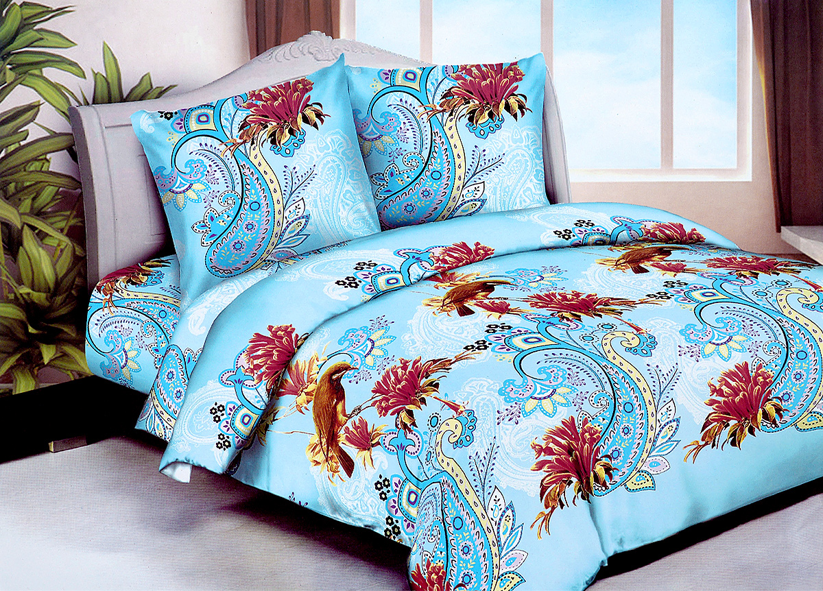 Комплект белья МарТекс Колибри, 2-спальный, наволочки 70х7001-1249-2Комплект постельного белья МарТекс Колибри состоит из пододеяльника, простыни и двух наволочек. Постельное белье оформлено оригинальным ярким рисунком и имеет изысканный внешний вид.Комплект изготовлен из качественной микрофибры. Микроволокно обладает высокой устойчивостью, у него богатая палитра ярких оттенков, эта ткань полностью поддается стирке.Такая ткань рассчитана на 200 стирок и более. Микрофибра представляет собой ткань из полиэфирного волокна. В ее состав входят микронити, которые и обеспечивают материалу максимальную прочность, а также дышащую способность.Приобретая комплект постельного белья МарТекс, вы можете быть уверены в том, что покупка доставит вам и вашим близким удовольствие и подарит максимальный комфорт.