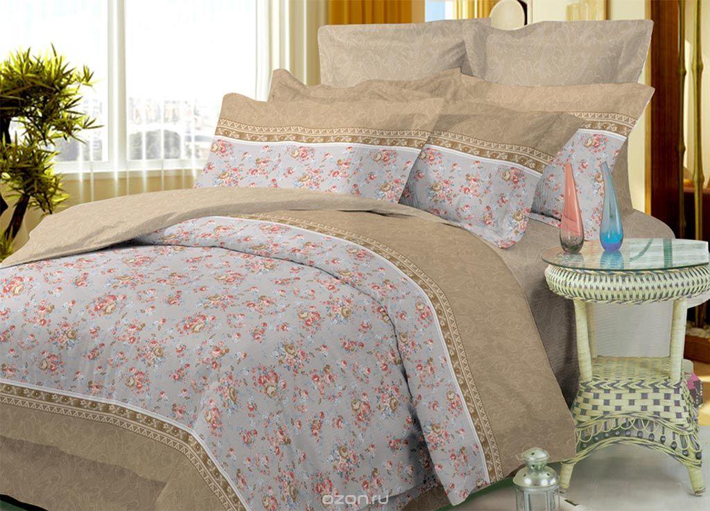 Комплект белья Primavera Classic Цветы, 1,5-спальный, наволочки 70x70, цвет: бежевый, серый, розовый87879Комплект постельного белья Primavera Classic Цветы является экологически безопасным для всей семьи, так как выполнен из высококачественного сатина (100% хлопка). Комплект состоит из пододеяльника на молнии, простыни и двух наволочек. Постельное белье оформлено ярким рисунком цветов и имеет изысканный внешний вид. Сатин - производится из высших сортов хлопка, а своим блеском и легкостью напоминает шелк. Постельное белье из сатина превращает жаркие летние ночи в прохладные и освежающие, а холодные зимние - в теплые и согревающие. Приобретая комплект постельного белья Primavera Classic Цветы, вы можете быть уверенны в том, что покупка доставит вам и вашим близким удовольствие и подарит максимальный комфорт.Советы по выбору постельного белья от блогера Ирины Соковых. Статья OZON Гид
