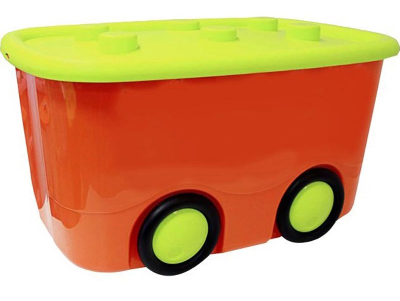 Idea Ящик для игрушек Моби цвет оранжевый 41,5 х 60 х 32 смМ 2598Ящик для игрушек Idea Моби - лучшее решение для поддержания порядка в детской. Все игрушки собраны в одном месте, а ящик всегда можно с легкостью переместить благодаря четырем колесам. Детский ящик для хранения игрушек имеет надежную крышку.