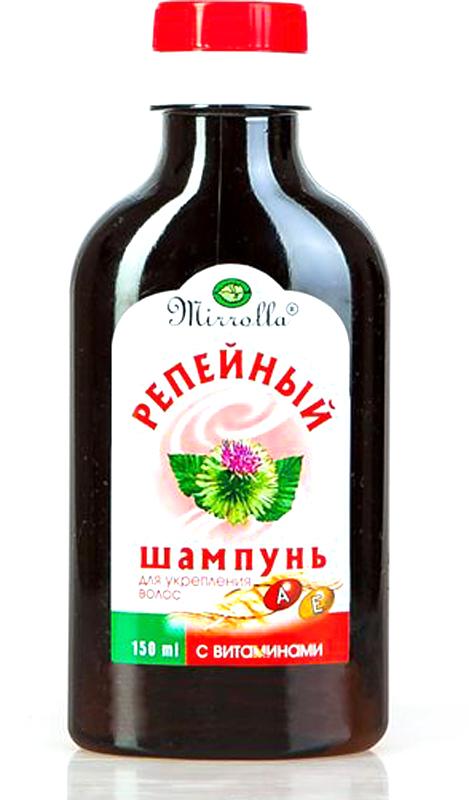 Мирролла Шампунь репейный с комплексом витаминов для укрепления волос 150 мл сыворотка для волос evinal с плацентой для укрепления волос 150 мл