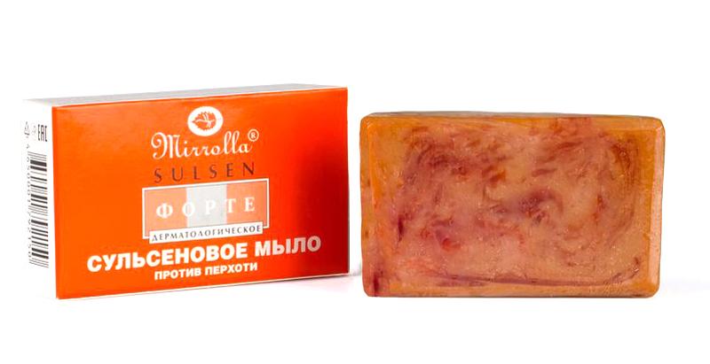 Мирролла Гель мыло твердое Сульсен Форте 2% 100