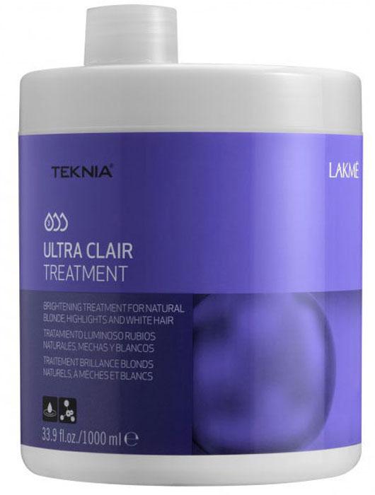 Lakme Средство придающее блеск светлым оттенкам волос Brightening Treatment, 1000 мл47031Восстанавливает и защищает все типы светлых волос. Обогащено экстрактом натурального перламутра и керамидами, которые смягчают ткань волоса и придают ему упругость. Волосам возвращается естественная чистота, блеск и сияние. Содержащийся в формуле витамин В5 смягчает, увлажняет и защищает волосы. Средство придающее блеск светлым оттенкам волос Lakme Teknia Ultra Clair Brightening Treatment содержит WAA™ – комплекс растительных аминокислот, ухаживающий за волосами и оказывающий глубокое воздействие изнутри.