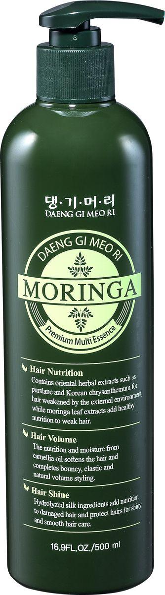 Daeng Gi Meo Ri, Премиум эссенция для волос с экстрактом моринги 500 мл8807779088602Эссенция содержит экстракт листьев моринги и экстракты восточных растений (корень ремании, экстракты хризантемы и портулака огородного), обеспечивающие интенсивное увлажнение и питание В состав шампуня входит экстракт листьев дерева моринга. Моринга богата белками, кальцием, витаминами, минералами и аминокислотами ослабленных сухих волос. Масло камелии японской удерживает влагу и придает волосам сияние и шелковистость. Гидролизированный кератин восстанавливает поврежденные волосы, способствует глубокому увлажнению и повышает эластичность волос.
