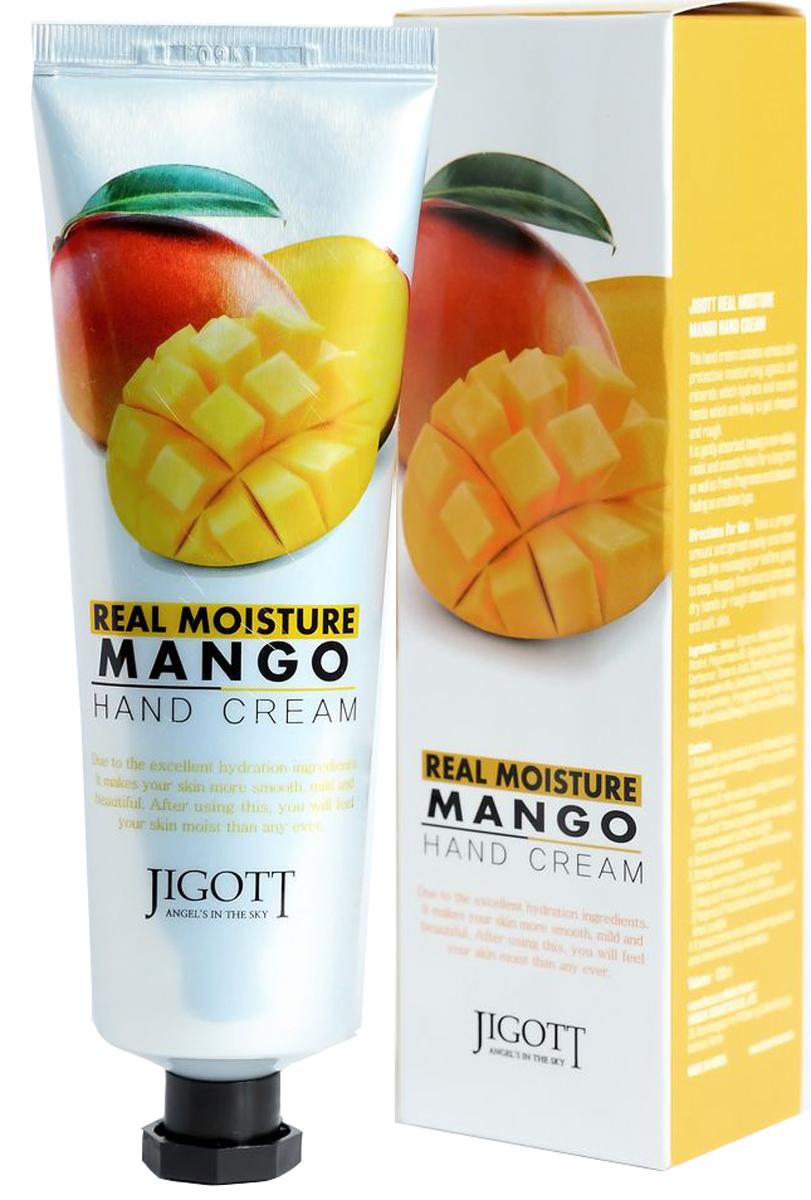 Jigott, Real Moisture крем для рук с экстрактом манго, 100 г8809344970367Увлажняющий крем для рук с экстрактом манго содержит комплекс растительных экстрактов и минералов, интенсивно питающих и увлажняющих сухую и огрубевшую кожу рук. Крем мгновенно впитывается, увлажняет кожу, предотвращает потерю влаги, не оставляя ощущения липкости. Экстракт манго великолепно увлажняет и питает кожу, снимает зуд и раздражение, возвращает коже мягкость и упругость, способствует заживлению мелких ранок и трещин. Кожа рук становится мягкой, гладкой и бархатистой.Как ухаживать за ногтями: советы эксперта. Статья OZON Гид