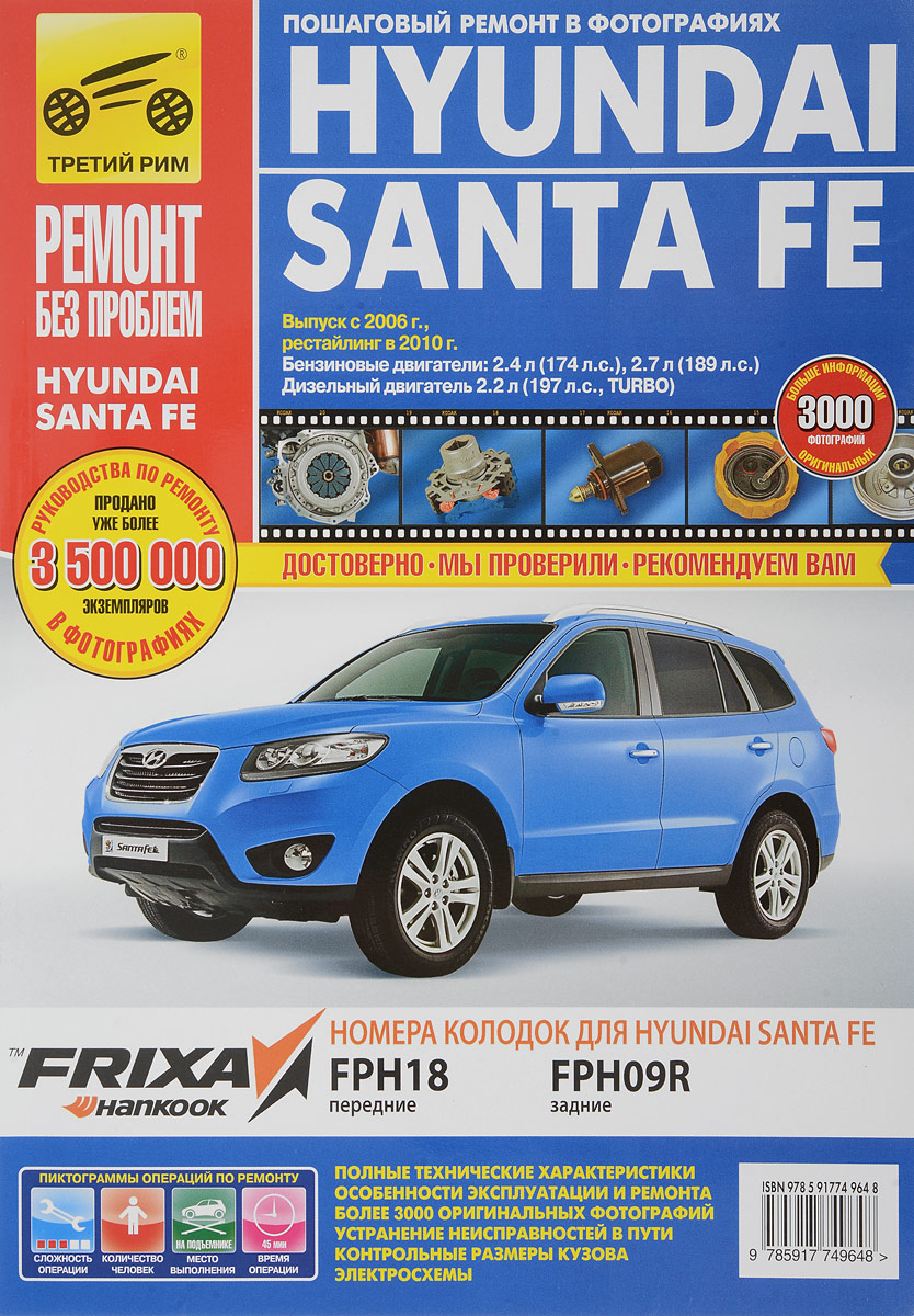 Hyundai Santa Fe. Руководство по эксплуатации, техническому обслуживанию и ремонту
