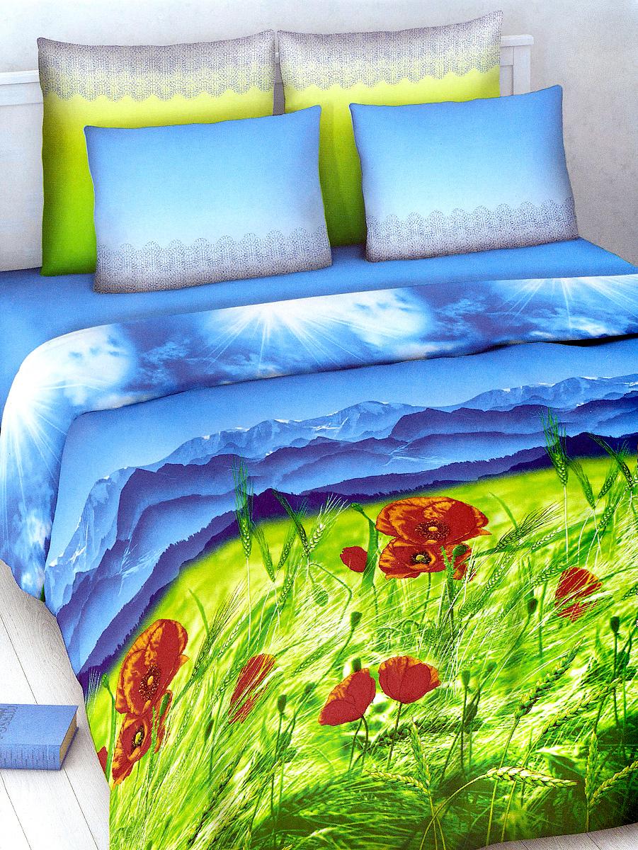 Комплект белья МарТекс, 2-спальный, наволочки 70х70, цвет: голубой, мультиколор01-1012-2Комплект постельного белья МарТекс состоит из пододеяльника, простыни и двух наволочек. Постельное белье оформлено оригинальным ярким рисунком и имеет изысканный внешний вид.Комплект изготовлен из качественной хлопчатобумажной бязи. Поверхность материи - ровная и матовая на вид, одинаковая с обеих сторон. Ткань экологична, гипоаллергенная, износостойкая. Это отличный материал для постельного белья.Приобретая комплект постельного белья МарТекс, вы можете быть уверенны в том, что покупка доставит вам и вашим близким удовольствие и подарит максимальный комфорт.