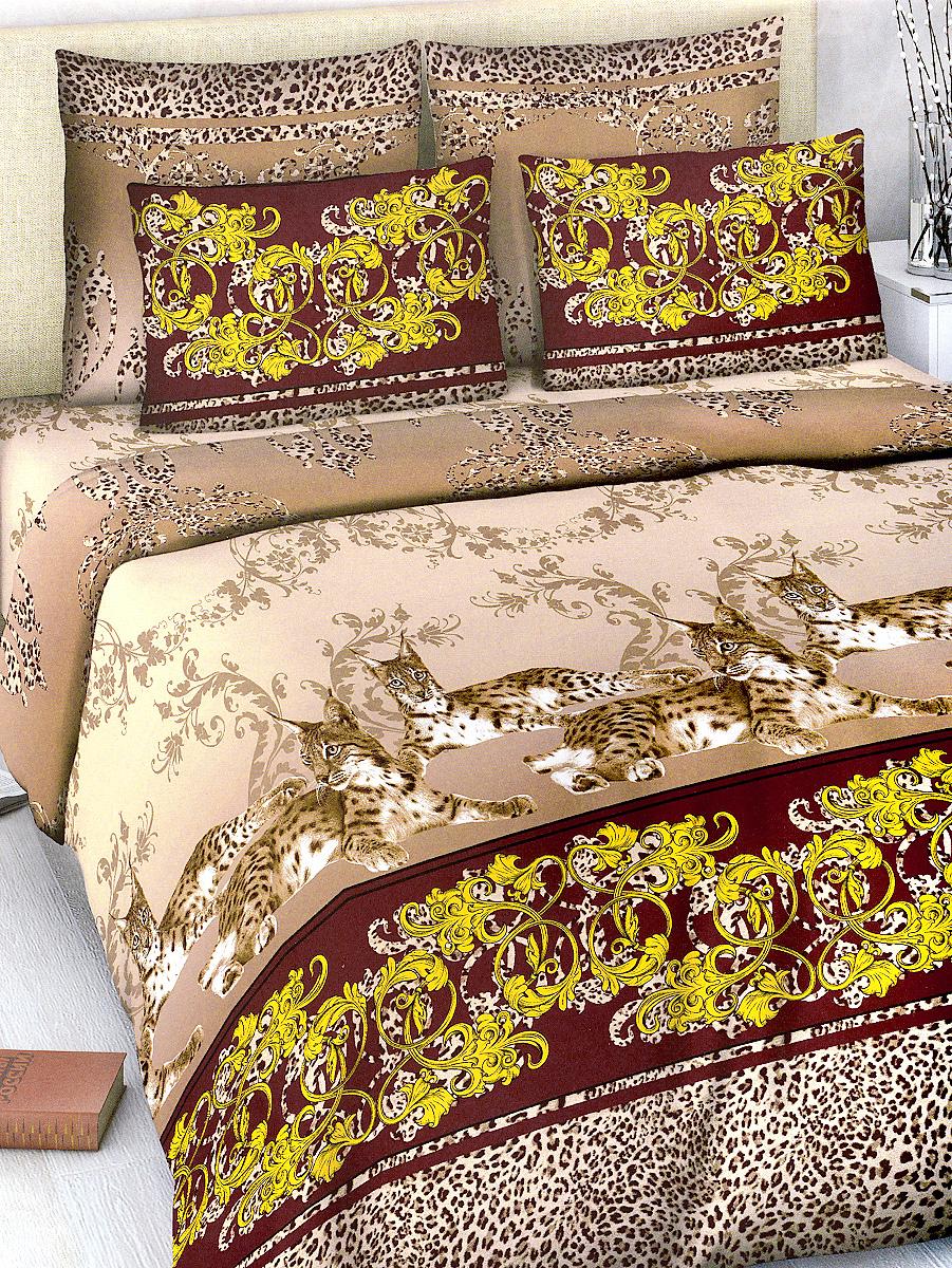 Комплект белья МарТекс, 2-спальный, наволочки 70х70, цвет: коричневый, каштановый01-1015-2Комплект постельного белья МарТекс состоит из пододеяльника, простыни и двух наволочек. Постельное белье оформлено оригинальным ярким рисунком и имеет изысканный внешний вид.Комплект изготовлен из качественной хлопчатобумажной бязи. Поверхность материи - ровная и матовая на вид, одинаковая с обеих сторон. Ткань экологична, гипоаллергенна, износостойка. Это отличный материал для постельного белья.