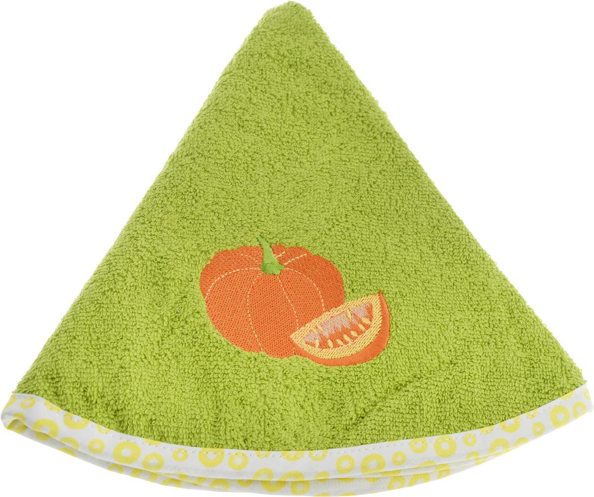 Полотенце кухонное Karna Zelina. Тыква, цвет: зеленый, диаметр 50 см салфетка кухонная karna zelina махровая цвет серый диаметр 50 см 504 char002