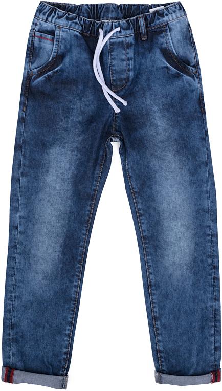 Джинсы для мальчика Scool, цвет: синий. 273007. Размер 164, 14 лет273007Джинсы для мальчика Scool изготовлены из натурального хлопка. Модель с эластичным поясом имеет свободный крой и не сковывает движений ребенка. Спереди расположены два втачных кармана, сзади - два накладных. Изделие оформлено эффектом потертости.