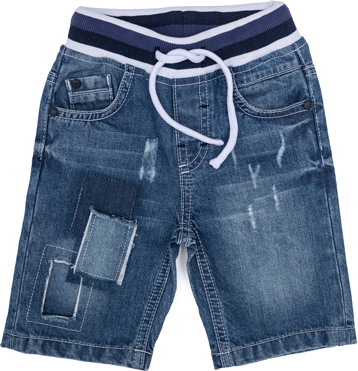 Шорты джинсовые для мальчика PlayToday, цвет: синий, белый. 277007. Размер 74277007Шорты для мальчика PlayToday выполнены из качественного материала. Дополнена модель затягивающимся шнурком.